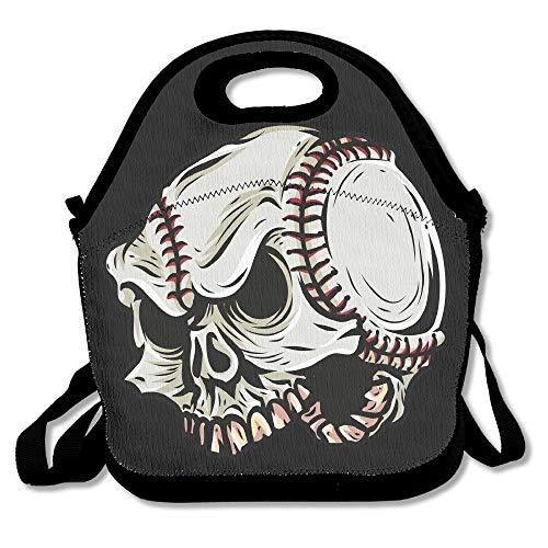 Skeleton Baseball Cartoon Outdoor/Travel/Picnic Lunch Bag 11x11x5.5 Inch