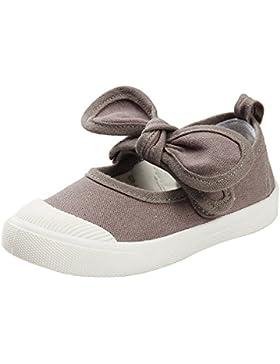 Estamico Zapatillas de Lona Antideslizante de Las Niñas Bowknot Mary Jane