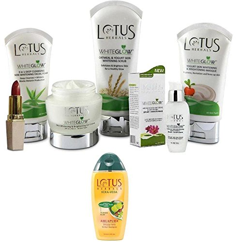 Lotus Whiteglow Kit With Shampoo & Lipstick  available at amazon for Rs.999