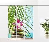 gardinen-for-life Flächenvorhang Orchidee - Serie 3er Set, Wellnessmotiv, jew. Gr.60x260 cm