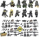 BlockPlay Mini-Figuren Militär SWAT Team mit massenhaft Waffen und MEGA Zubehör!