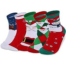 VBIGER 1-5 pares Calcetines de Invierno Calientes Calcetines Lindos De Navidad para Mujer y