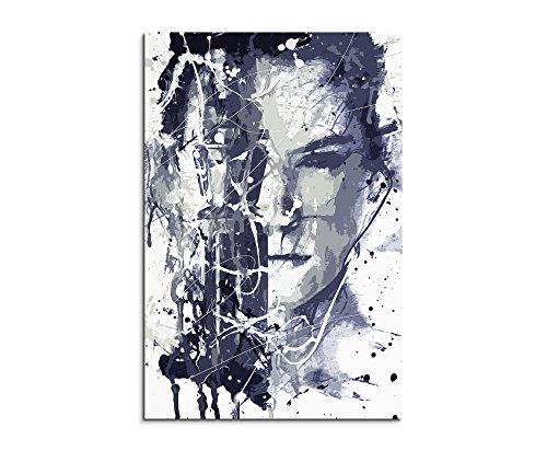 Paul Sinus Art Daisy_Ridley_Star_Wars_7_Art_90x60-SA Wandbild Leinwand, 90 x 50 x 3 cm, Mehrfarbig