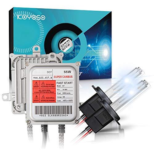 KOYOSO H7 Xenon Lampadine Canbus Kit di Conversione HID 55W Premium Decodifica Reattori Lampade di Avvio Rapido 6000K