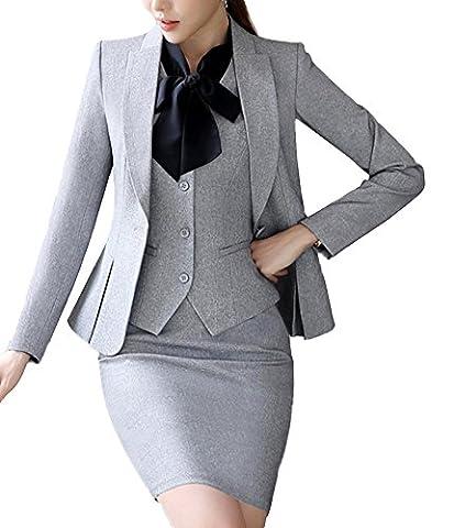 SK Studio Women's 4 Piece Business Skirt Jacket Pants Dress