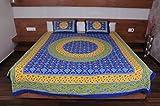 Snoopy Heritage Jaipuri Blue Bandhej Dou...