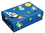 Unbekannt Bastelset Schulbox / Kreativbox / Aufbewahungsbox und Kiste - Space Weltraum Rakete Junge