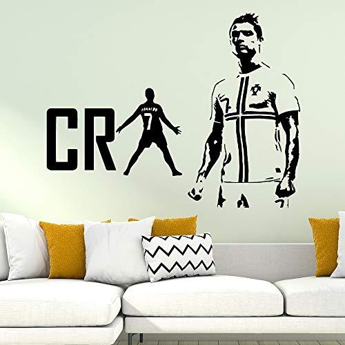 nkfrjz Cristiano Ronaldo CR Fußball wasserdichte Wandaufkleber Kunstwanddekor Für Wohnzimmer Kinderzimmer Wandtattoo Wohnkultur 43x49 cm -