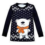 TianWlio Baby Weihnachten Pyjamas Bekleidung Baby Weihnachten Outfit Baby Mädchen Mommy Christmas Me Weihnachten Passendes Hemd Baby Lange Ärmel Brief Drucken Tops Bluse