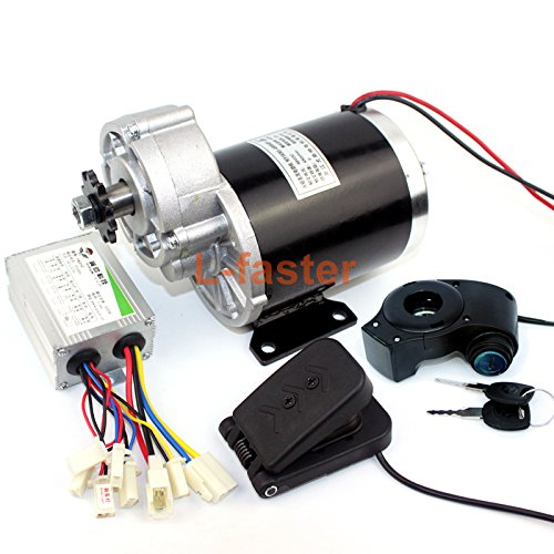 24V36V48V 450W Electric Trike Motor Electric Pedicab Trishaw Tricycle Motor Electric Cart Brushed DC Motor Three-wheeled Vehicle (48V pedal kit)