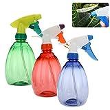 Frcolor 2pcs 550ml leere Spray-Flasche Multifunktions-Kunststoff-Spray (verschiedene Farben)