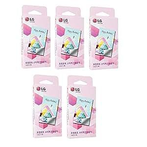 """Zink Media 2x3"""" Zero ink autocollant Photo Papier pour LG Poche imprimante photo PD221, PD233, PD239 / autocollant 150 Feuilles"""
