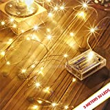 #5: Beauty Lights Copper String Lights 3 Aa Battery Operated Portable Led String Lights,(5 Meters 50 Led)
