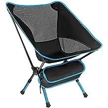 Ligero plegable coj/ín de suelo con respaldo para exteriores jard/ín Camping Alpinismo Senderismo Pesca Picnic port/átil silla taburete sillas azul