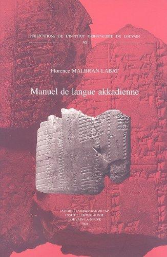 Manuel de langue akkadienne