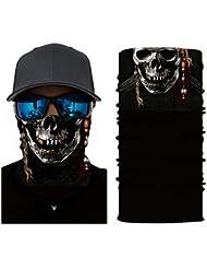 3d Headwear, tête de mort Masque visage, Magic Écharpe, Cache-cou, Bandana, cagoule, bandeau pour cyclisme, moto, course à pied, Skateboarding, évacuation de l'humidité protection contre les UV, idéal