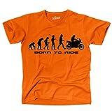 Siviwonder Unisex T-Shirt Schnabeltier Evolution Motorrad Lustig Sprüche Orange M