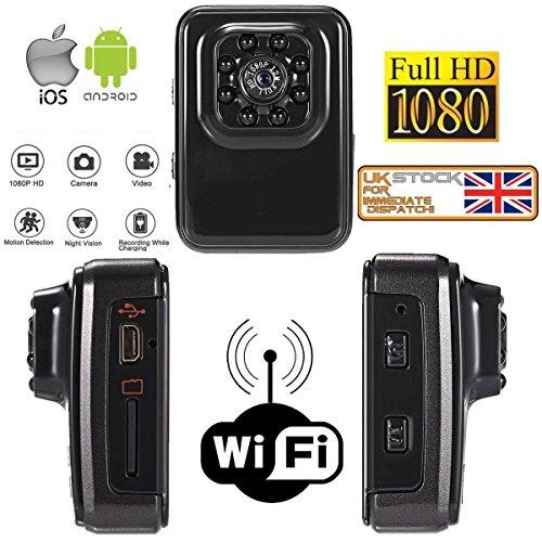 R3 sport WiFi FPV 1080p HD DV sport Action mini Spy Cam HD Nanny webcam con visione notturna a infrarossi e rilevazione di movimento per moto, bicicletta, casco Cam, auto Dash, corpo Cam, Spy Cam