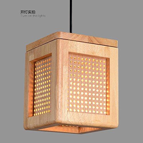 WYMBS Luce del pendente decorazione mobili Lampadario in legno foro rettangolare , warm light