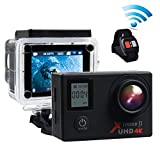 Campark ACT76 Action Cam 4K WIFI 16MP Ultra HD Sport Action Camera con Dual Screen Telecomando 170° Grandangolare due 1050mAh Batterie e Kit Accessori con Pacchetto Portatile