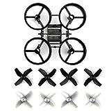 GEEDIAR Spare Parts Propulseurs avec Châssis et Blade Inductrix Micro Drone pour JJRC H36 RC Quadcopter (gris)