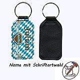 Schlüsselanhänger mit Namen bayrischen Motiv Lausbua/Kunstleder/einseitig bedruckt/Personalisierbar/Geschenkidee zur Einschulung/Schriftartwahl