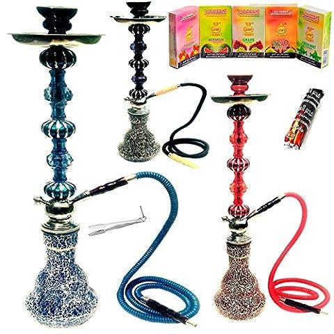 30' 1 Hose Big Smoking Pipe Sheesha Hookah Shisha Nargila + Charcoal + Flavour FAST DELIVERY