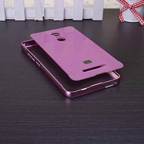 EKINHUI iPhone 5SE,iPhone 5S Coque; Luxe M¨¦tal Aluminium Bumper Coque d¨¦tachables + Hard Back 2 en 1 Ultra Cover chassis mince pour iPhone 5SE,iPhone 5S(Gold) Pink