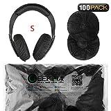 Dehnbare Kopfhörer-Abdeckungen/Einweg-Ohrmuscheln für Medium/Large-Headset, 200 Stück (100 Paar) S (4-8) cm 100 Pairs Set(S) - Black