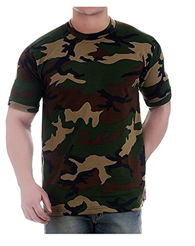 Devil Men's Cotton Camouflage / Army T-Shirt Half Sleeve Round Neck (Medium)