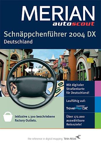 Schnäppchenführer 2004 DX Deutschland, 1 CD-ROMMit digitaler Straßenkarte für Deutschland. Inklusive 1300 beschriebene Factory Outlets. Über 172.000 auswählbare Reiseziele. Lauffähig auf Blaupunkt TravelPilot DX