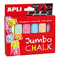 Apli Kids 14367 Jumbo Colour Chalk Assorted Pack of 6