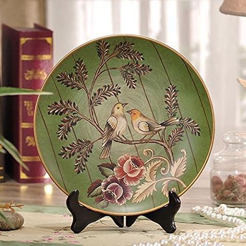 KA-ALTHEA- Love Birds dipinte a mano piatto