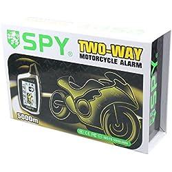 Universal SPY batería 2way motocicleta sistema de alarma Pantalla LCD remote engine start Sensor de proximidad y Sensor de choque