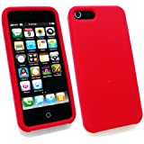 Emartbuy ® Apple Iphone 5 5G Silikon Skin Cover / Case Red