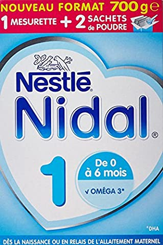 Nestlé Nidal 1 - Lait Infantile 1er Âge en Poudre