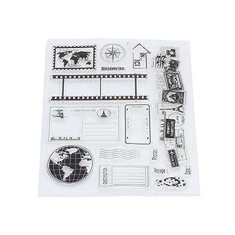 Stempel Set, HENGSONG Transparent Kreativ Erde Muster Gummi Stempel DIY Album Craft Scrapbooking Dekoration