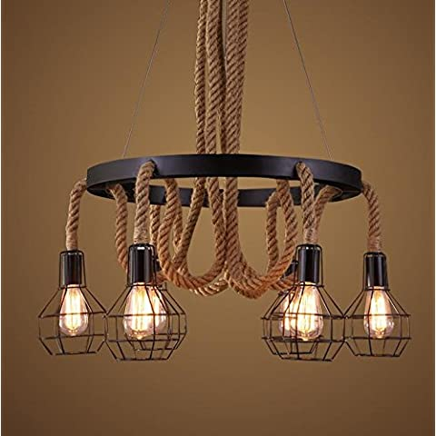 Vintage funi metalliche 6luci lampadario pendente Lighting