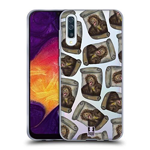 Head Case Designs Kartoffel Chimp Lustige Affen Soft Gel Huelle kompatibel mit Samsung Galaxy A50 (2019)