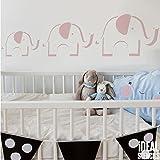 Elefant Kinderzimmer Schablone Kinder Heim Dekoration Farbe Wände Stoff und Möbel wiederverwendbar Kunst Handwerk - halb geschliffen Durchsichtig Schablone, Multipack XS/S/M
