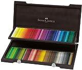 Faber-Castell Polychromos Künstlerfarbstifte in Wenge-Holzkoffer mit 120 Polychromos Farbstiften (Holzkoffer | Polychromos, 120 Farben)