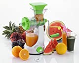 #9: JJ Present Super Deluxe Manual Hand Fruit & Vegetable Juicer,Home Manual Juicer Fruit Squeezer, Manual Wheatgrass Juicer, Multifunctional 100% Healthy Natural Juice Maker, Strong Vacuum, Poly Carbonate Unbreakable Body (Multi-coloured)