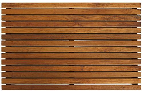 Bare Decor Zen Spa Dusche oder Fußmatte in Teak Holz Massiv und geölt Finish, 31,5von \'