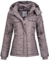 Übergangsjacke   Übergangsmantel   Stepp-Jacke für Damen von Stitch & Soul - eleganter Kurz-Mantel im schlanken Parka-Stil mit Kapuze