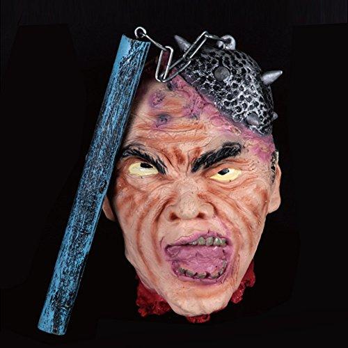 2 Evil Resident Kostüm (Halloween Schreckliche Requisiten, HimanJie Scary Hanging Kopf für Terror Zeremonie Supplies Bar Haunted House)