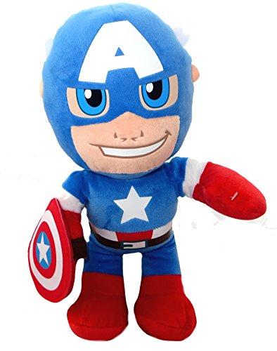 Captain America Super Hero Squad weiches Plüsch-Spielzeug (Hero Captain Squad Super Kostüm America)