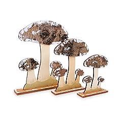 Idea Regalo - small foot company Funghi da Decorazione in Legno, Natura