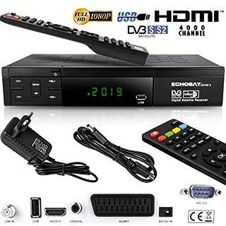 Echosat 20700 S - Aktualisierter Digitaler Satelliten Receiver (HDTV, DVB-S/S2, HDMI, SCART, 2x USB 2.0, Full HD 1080p) (Vorprogrammiert für Astra Hotbird und Türksat)