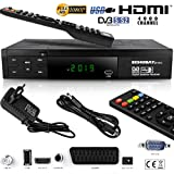 HD Digital Satellite Receiver DVB-S/DVB-S2, HDMI, SCART – ECHOSAT 20700 FTA Channels – Ideal Astra, Hotbird, Nilesat Türksat...