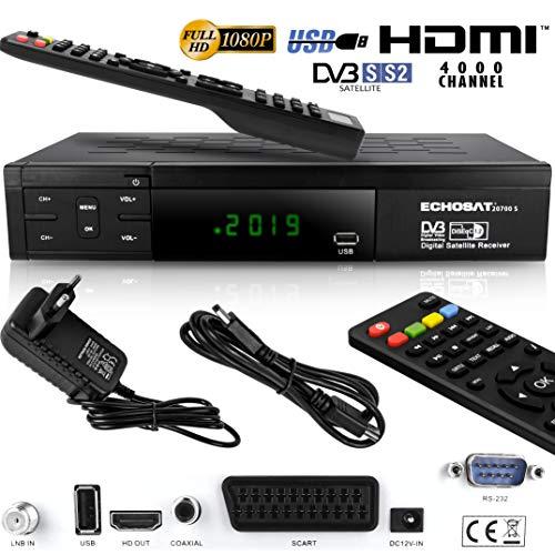 Echosat 20700 S - Aktualisierter Digitaler Satelliten Receiver (HDTV, DVB-S/S2, HDMI, SCART, 2x USB 2.0, Full HD 1080p) (Vorprogrammiert für Astra Hotbird und Türksat) S-video-1080p